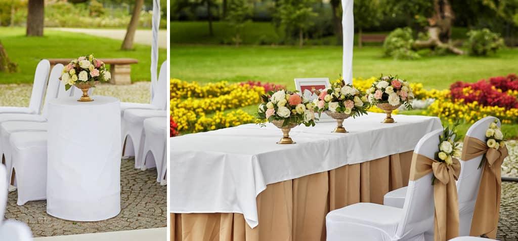 Ślub cywilny w plenerze oraz wesele w Pałacu Romantycznym. 019 romantyczny 11