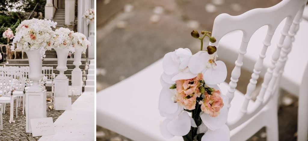 Plenerowy ślub kościelny w Pałacu Romantycznym 002 romantycznylavinci 5