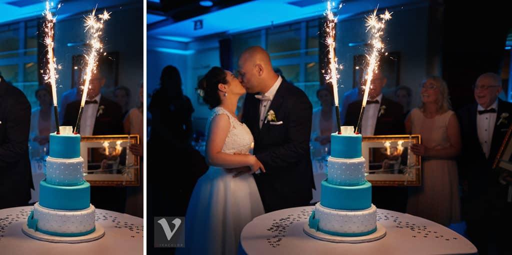 Ślub w Bydgoskiej Farze, uroczystość w kolorach Tiffany Blue na weselu w Słonecznym Młynie. 016s onecznym yn 16