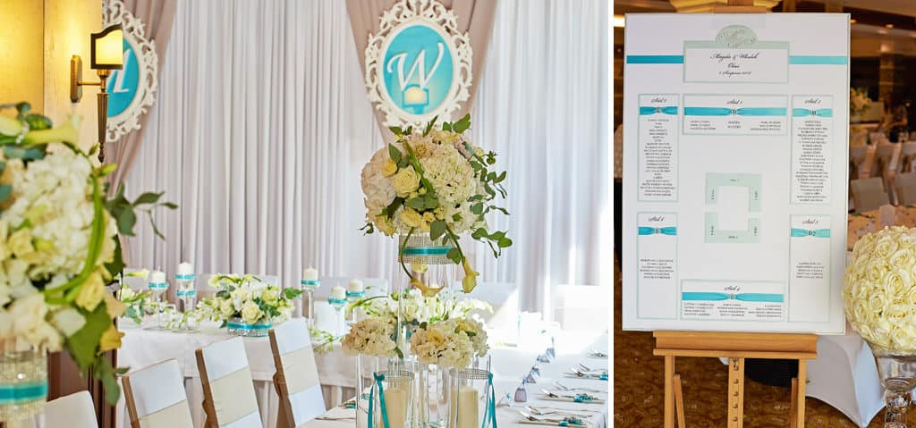 Ślub w Bydgoskiej Farze, uroczystość w kolorach Tiffany Blue na weselu w Słonecznym Młynie. 022s onecznym yn 22